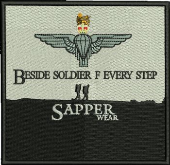 Beside Soldier F embroidered Badge